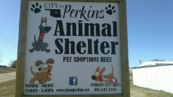 City of Perkins Animal Shelter Sign